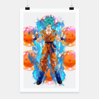 Dragon Ball Super Goku Super Saiyan Blue Powered up Poster Bild der Miniatur
