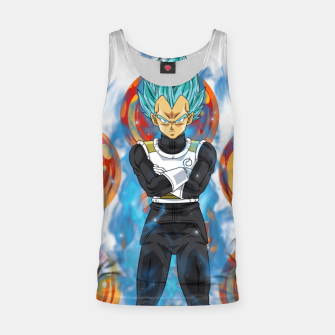 Thumbnail image of Dragon Ball Super Vegeta Super Saiyan Blue Tank Top, Live Heroes