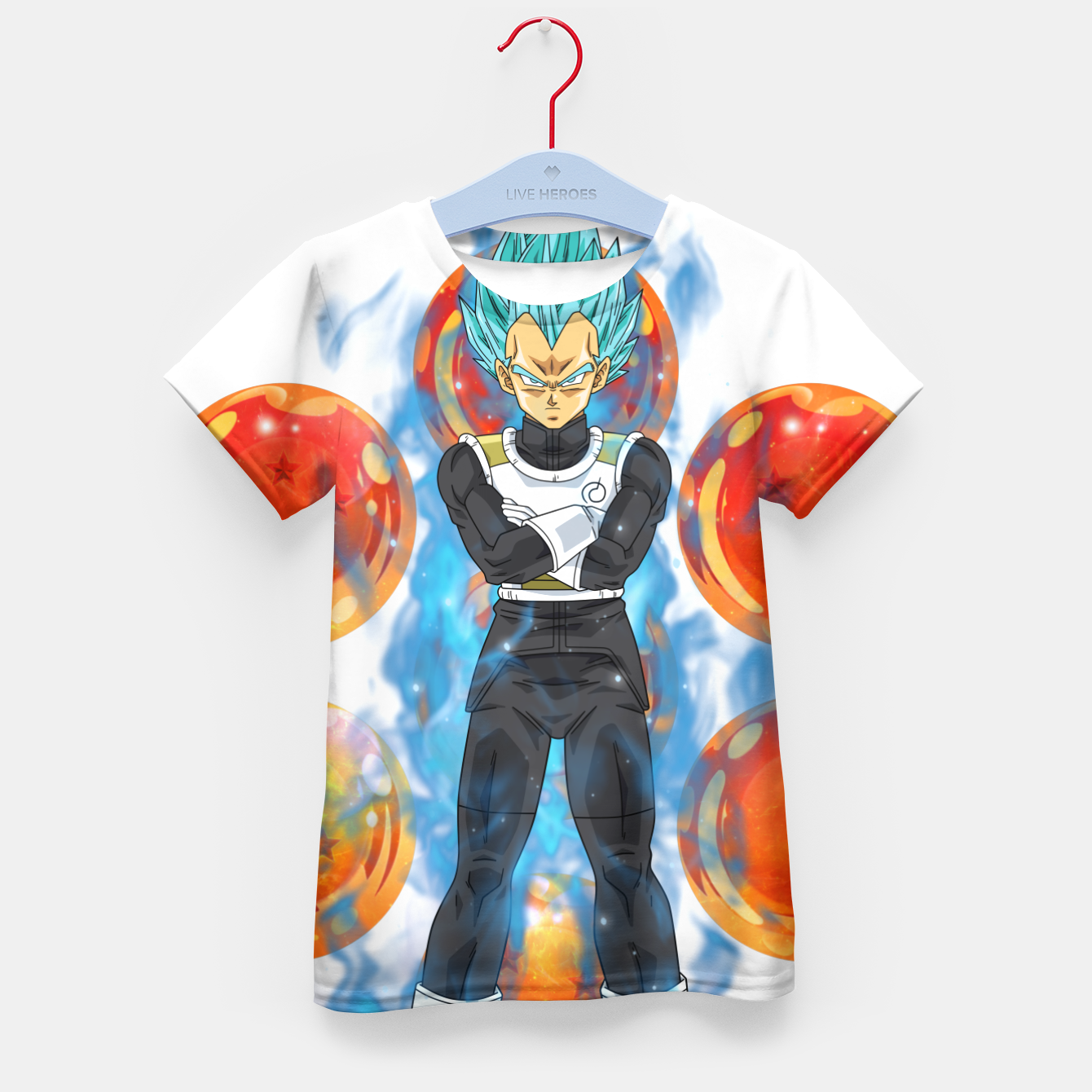 Image de Dragon Ball Super Vegeta Super Saiyan Blue Kid's t-shirt - Live Heroes