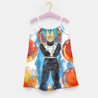 Dragon Ball Super Vegeta Super Saiyan Blue Girl's dress miniature