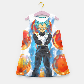 Thumbnail image of Dragon Ball Super Vegeta Super Saiyan Blue Girl's summer dress, Live Heroes