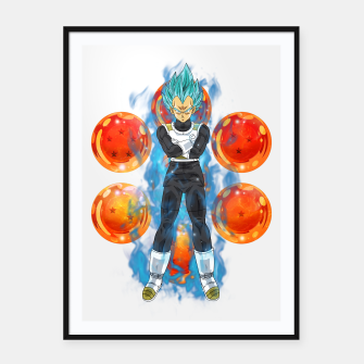Thumbnail image of Dragon Ball Super Vegeta Super Saiyan Blue Framed poster, Live Heroes