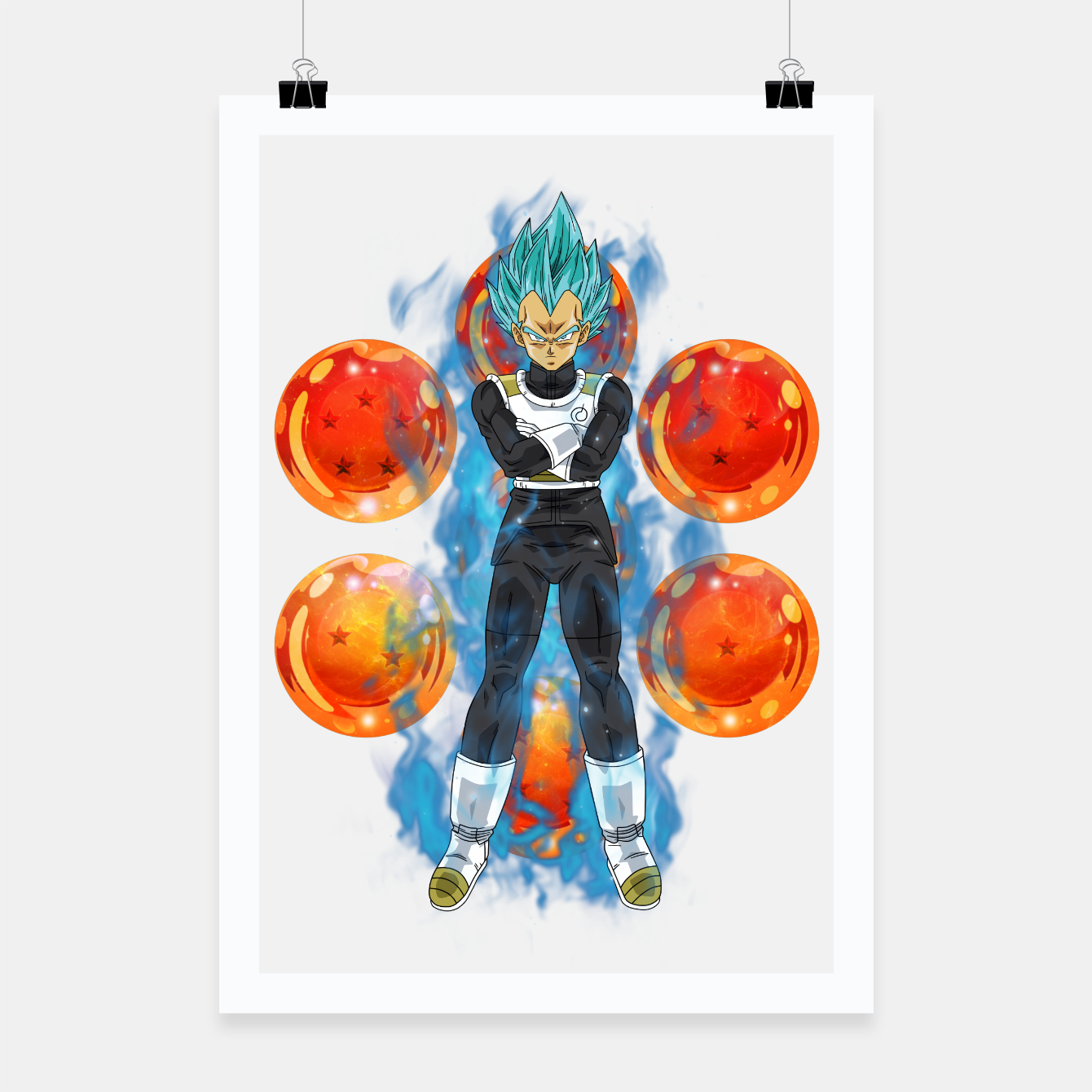Image de Dragon Ball Super Vegeta Super Saiyan Blue Poster - Live Heroes