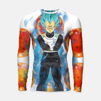 Thumbnail image of Dragon Ball Super Vegeta Super Saiyan Blue Longsleeve rashguard , Live Heroes