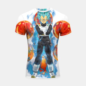 Thumbnail image of Dragon Ball Super Vegeta Super Saiyan Blue Shortsleeve rashguard, Live Heroes