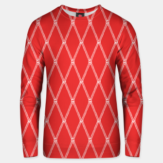 Thumbnail image of Nautical Fishing Net (Red and White) Unisex sweater, Live Heroes