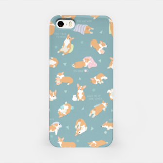 Thumbnail image of Corgi Day After Night Party With Fairies iPhone Case, Live Heroes