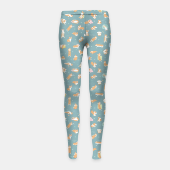 Thumbnail image of Corgi Day After Night Party With Fairies Girl's leggings, Live Heroes