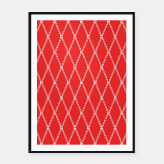 Thumbnail image of Nautical Fishing Net (Red and White) Framed poster, Live Heroes