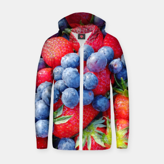 Thumbnail image of blueberries and strawberries Bluza z zamkiem, Live Heroes