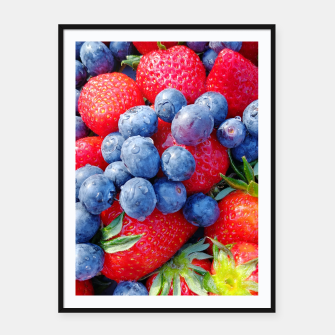 Thumbnail image of blueberries and strawberries Plakaty w ramie , Live Heroes