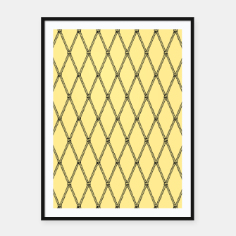 Thumbnail image of Nautical Fishing Net (Yellow and Black) Framed poster, Live Heroes