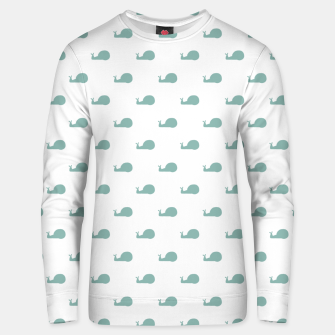 Snails Silhouette Drawing Pattern Unisex sweater Bild der Miniatur