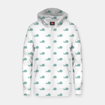 Snails Silhouette Drawing Pattern Zip up hoodie Bild der Miniatur