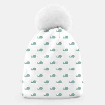 Thumbnail image of Snails Silhouette Drawing Pattern Beanie, Live Heroes