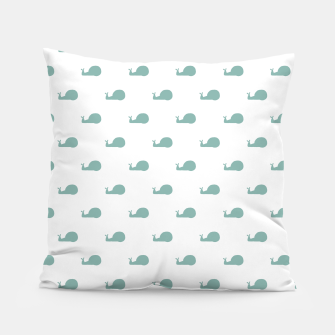 Snails Silhouette Drawing Pattern Pillow Bild der Miniatur