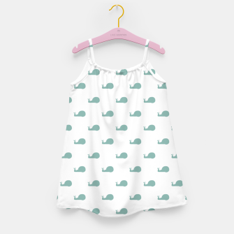 Snails Silhouette Drawing Pattern Girl's dress Bild der Miniatur