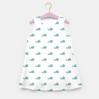 Snails Silhouette Drawing Pattern Girl's summer dress Bild der Miniatur