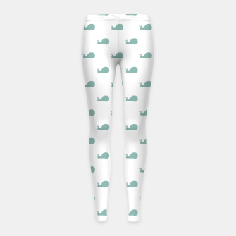 Snails Silhouette Drawing Pattern Girl's leggings Bild der Miniatur