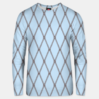 Thumbnail image of Nautical Fishing Net (Light Blue and Brown) Unisex sweater, Live Heroes