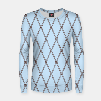 Thumbnail image of Nautical Fishing Net (Light Blue and Brown) Women sweater, Live Heroes