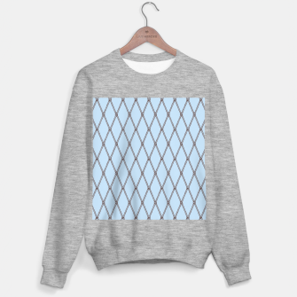 Thumbnail image of Nautical Fishing Net (Light Blue and Brown) Sweater regular, Live Heroes