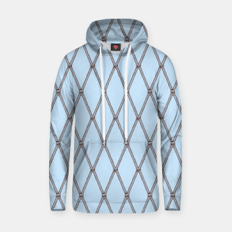 Thumbnail image of Nautical Fishing Net (Light Blue and Brown) Hoodie, Live Heroes