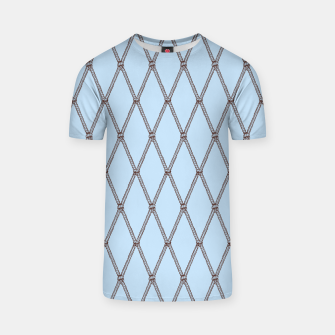 Thumbnail image of Nautical Fishing Net (Light Blue and Brown) T-shirt, Live Heroes