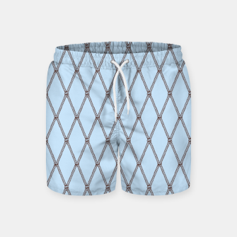 Thumbnail image of Nautical Fishing Net (Light Blue and Brown) Swim Shorts, Live Heroes