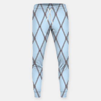 Thumbnail image of Nautical Fishing Net (Light Blue and Brown) Sweatpants, Live Heroes