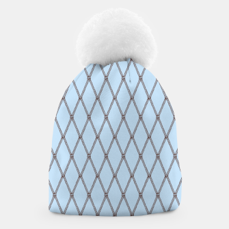 Thumbnail image of Nautical Fishing Net (Light Blue and Brown) Beanie, Live Heroes