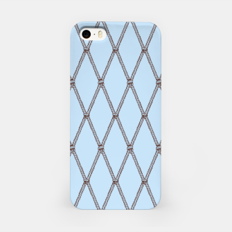 Thumbnail image of Nautical Fishing Net (Light Blue and Brown) iPhone Case, Live Heroes