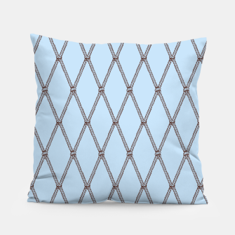 Thumbnail image of Nautical Fishing Net (Light Blue and Brown) Pillow, Live Heroes