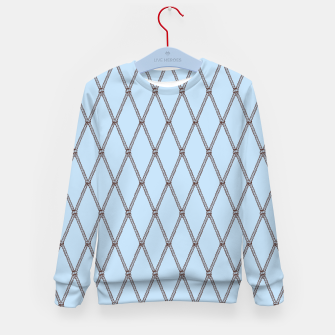 Thumbnail image of Nautical Fishing Net (Light Blue and Brown) Kid's sweater, Live Heroes