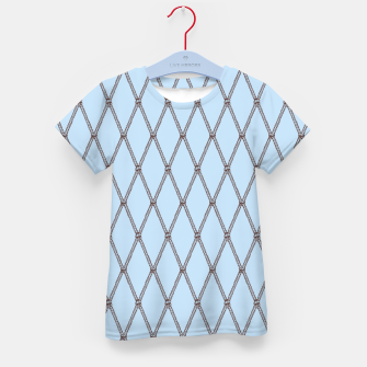 Thumbnail image of Nautical Fishing Net (Light Blue and Brown) Kid's t-shirt, Live Heroes