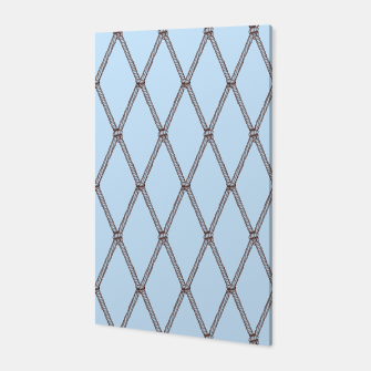 Thumbnail image of Nautical Fishing Net (Light Blue and Brown) Canvas, Live Heroes