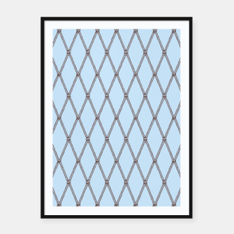 Thumbnail image of Nautical Fishing Net (Light Blue and Brown) Framed poster, Live Heroes