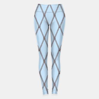 Thumbnail image of Nautical Fishing Net (Light Blue and Brown) Leggings, Live Heroes