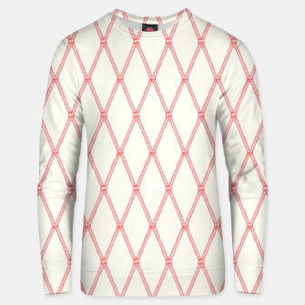 Thumbnail image of Nautical Fishing Net (Beige and Coral) Unisex sweater, Live Heroes
