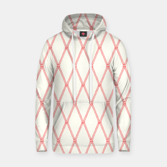 Thumbnail image of Nautical Fishing Net (Beige and Coral) Hoodie, Live Heroes