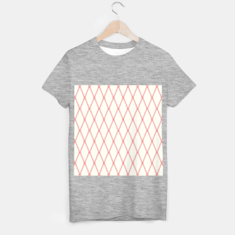 Thumbnail image of Nautical Fishing Net (Beige and Coral) T-shirt regular, Live Heroes
