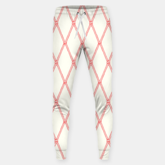 Thumbnail image of Nautical Fishing Net (Beige and Coral) Sweatpants, Live Heroes