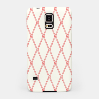 Thumbnail image of Nautical Fishing Net (Beige and Coral) Samsung Case, Live Heroes