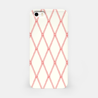 Thumbnail image of Nautical Fishing Net (Beige and Coral) iPhone Case, Live Heroes