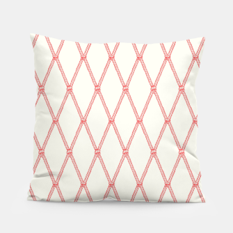 Thumbnail image of Nautical Fishing Net (Beige and Coral) Pillow, Live Heroes