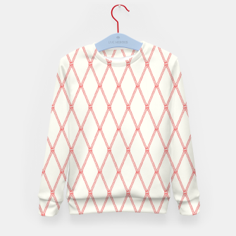 Thumbnail image of Nautical Fishing Net (Beige and Coral) Kid's sweater, Live Heroes