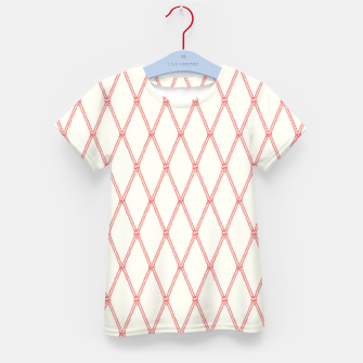 Thumbnail image of Nautical Fishing Net (Beige and Coral) Kid's t-shirt, Live Heroes