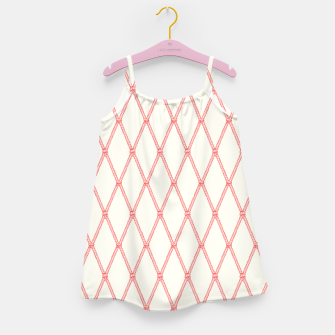 Thumbnail image of Nautical Fishing Net (Beige and Coral) Girl's dress, Live Heroes