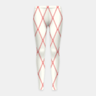 Thumbnail image of Nautical Fishing Net (Beige and Coral) Girl's leggings, Live Heroes