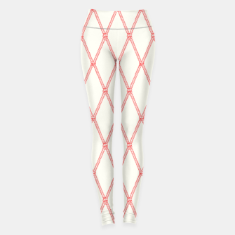Thumbnail image of Nautical Fishing Net (Beige and Coral) Leggings, Live Heroes